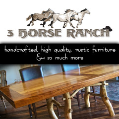 3 Horse Ranch | Handcrafted, high quality, rustic furniture